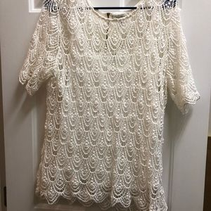 Crochet blouse with camisole underneath